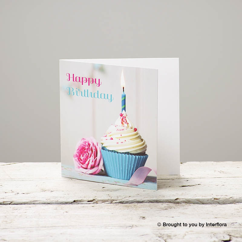 Astounding Happy Birthday Cupcake Greetings Card Buy Online Or Call 01233 Funny Birthday Cards Online Overcheapnameinfo