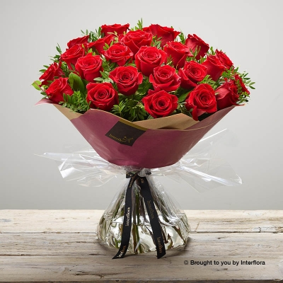 Valentine 24 Rose Hand tied