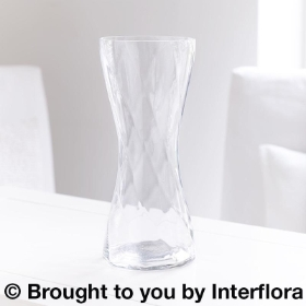 Tall Twist Clear Glass Vase