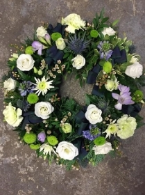 Lilac, Cream and Green Wreath