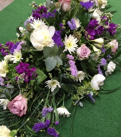 Parma Violet Casket Spray