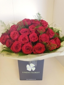 50 Rose Hand Tied