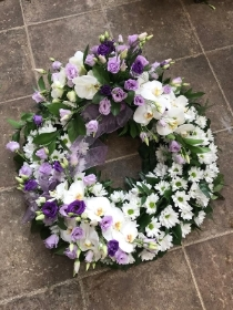 Luxurious Orchid Wreath